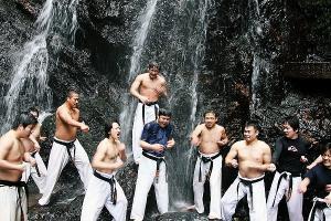 2012 新年会&鏡開き&滝浴び